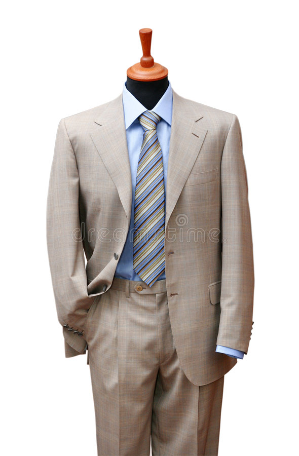 Free Posh Suit On Shop Mannequin Stock Images - 3648424