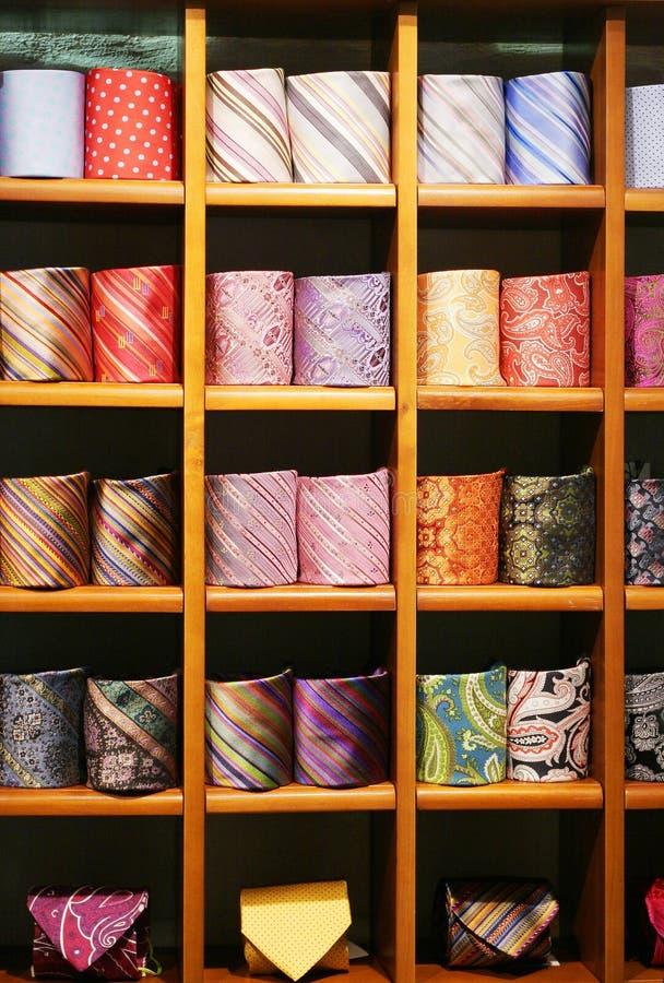 Download Posh ties stock photo. Image of clothes, showcase, shelf - 3521892