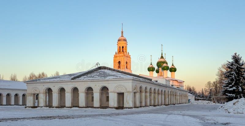 Poshekhonie liten stad, Yaroslavl region, Ryssland royaltyfria bilder