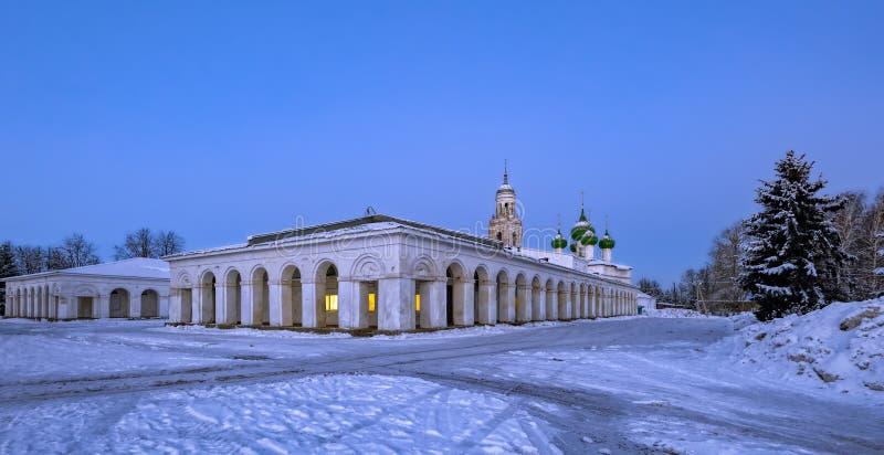 Poshekhonie liten stad, Yaroslavl region, Ryssland arkivbilder