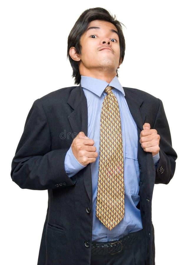 Posição arrogante do homem de negócios fotos de stock royalty free