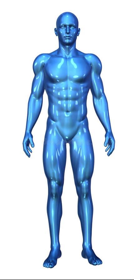 Posição azul lustrosa do homem ilustração stock