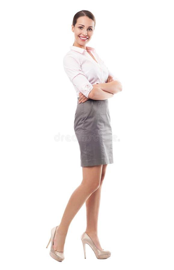 Posição bonita da mulher imagens de stock