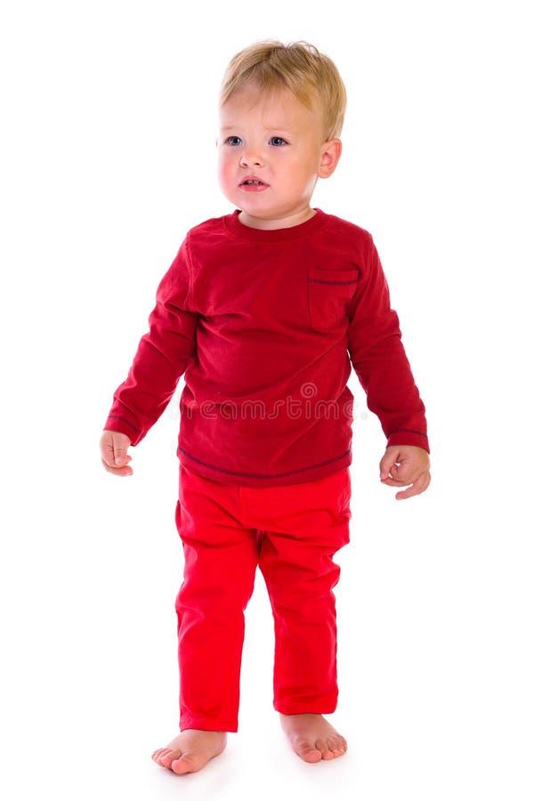 Posição caucasiano do bebê imagens de stock royalty free