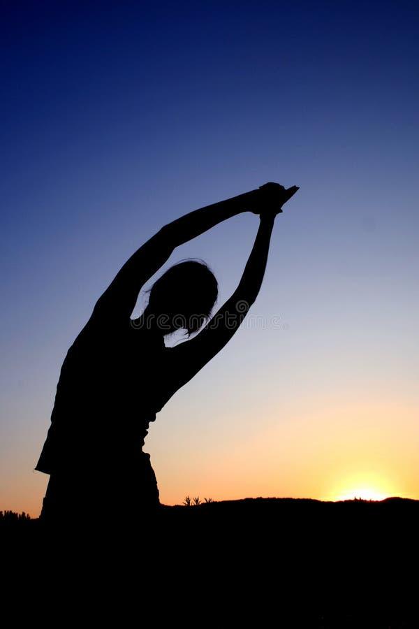 Posição da ioga fotografia de stock royalty free