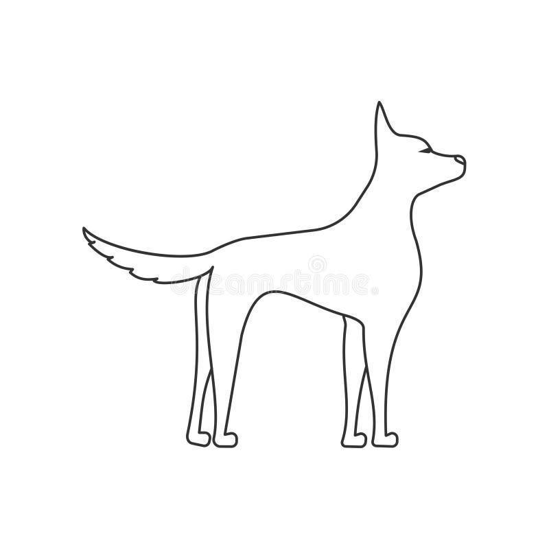 Posição do cachorrinho ilustração royalty free