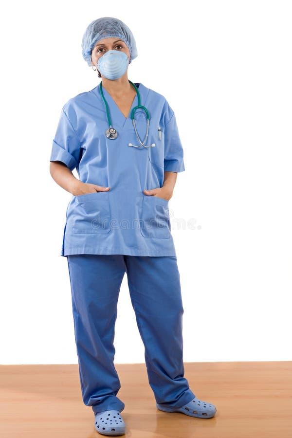 Posição do doutor da mulher imagens de stock