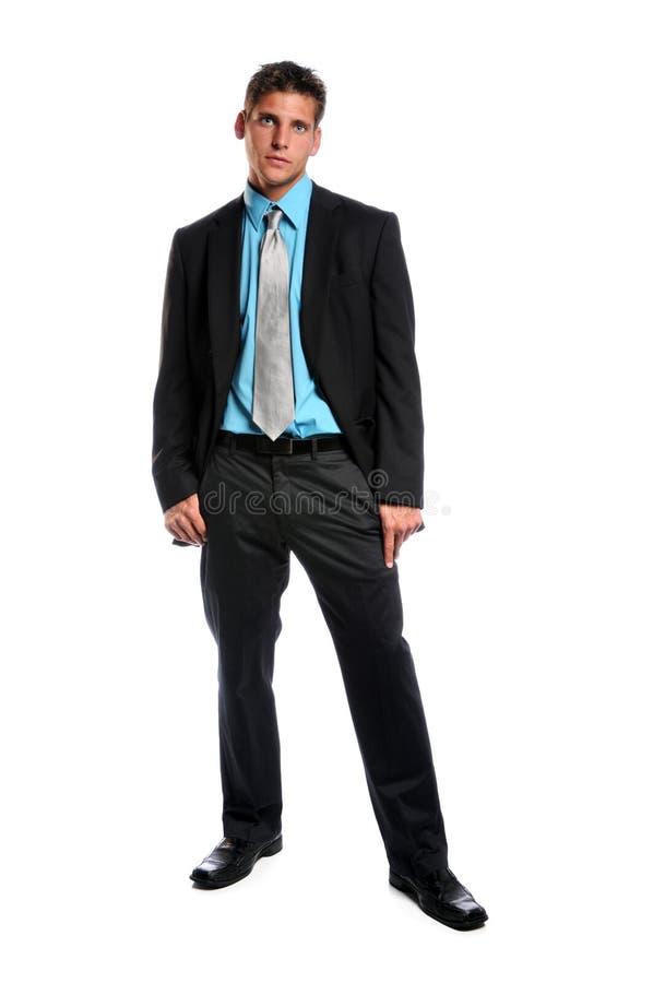 Posição do homem de negócios imagens de stock royalty free