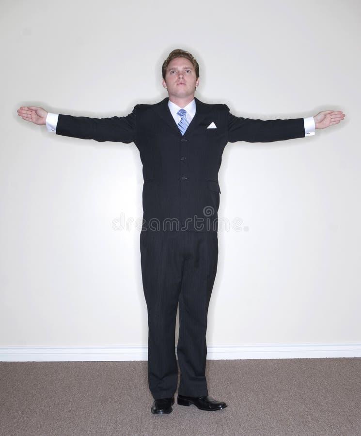 Posição do homem de negócios fotos de stock royalty free