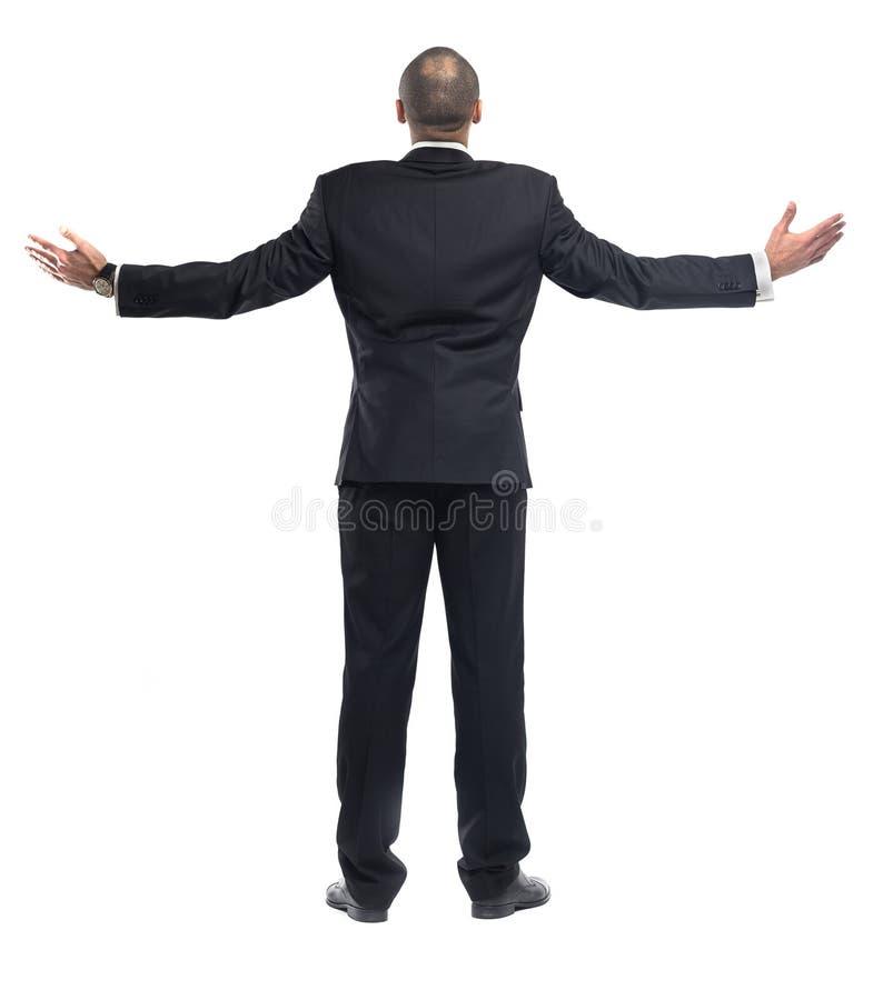 Posição do homem de negócios isolada fotografia de stock royalty free