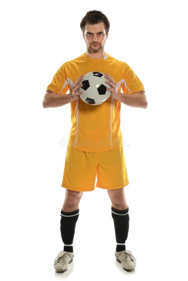 Posição do jogador de futebol imagem de stock
