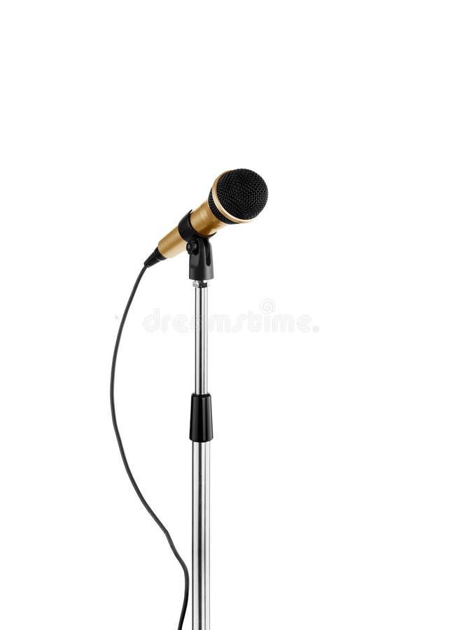 Posição do microfone fotografia de stock