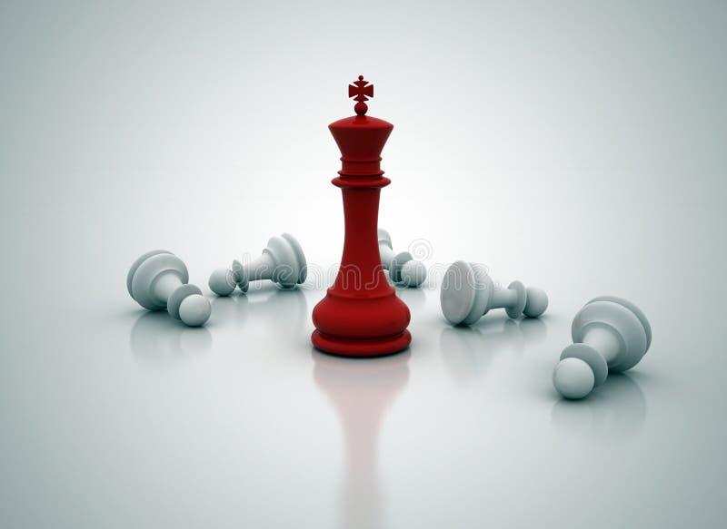 Posição do rei da xadrez ilustração royalty free
