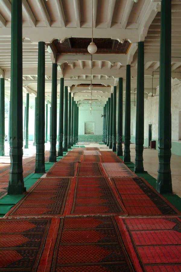 Posição do salão da adoração da mesquita de Kashenaichi Aitigaer fotos de stock