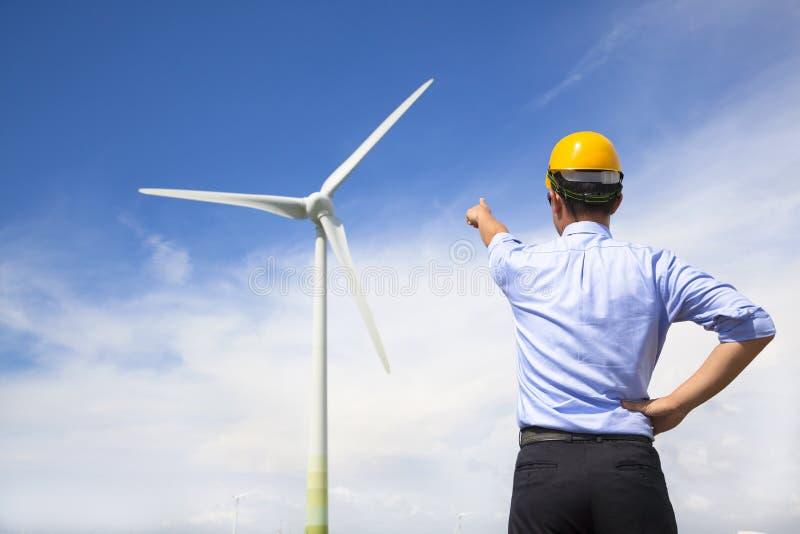 Posição e ponto novos do coordenador ao gerador de vento fotos de stock royalty free