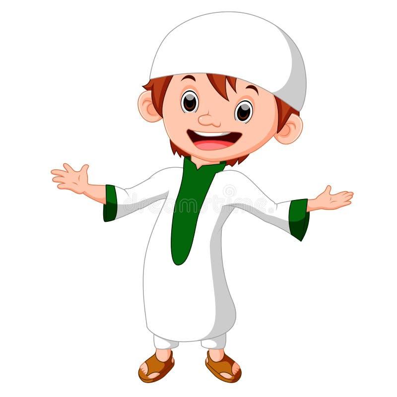 Posição muçulmana do menino ilustração stock