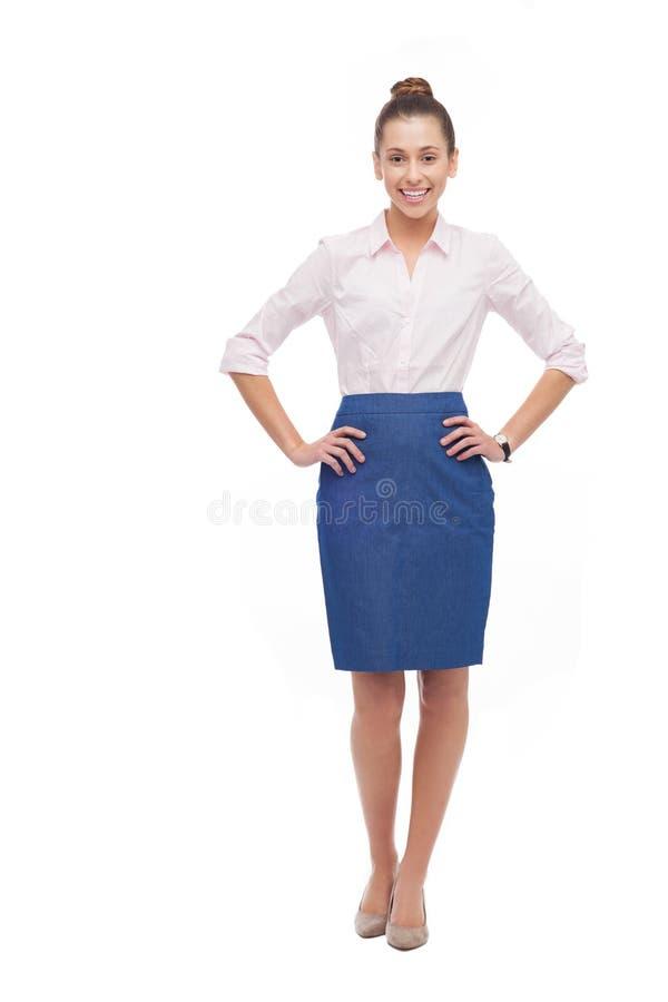Posição Nova Da Mulher De Negócios Foto de Stock Royalty Free