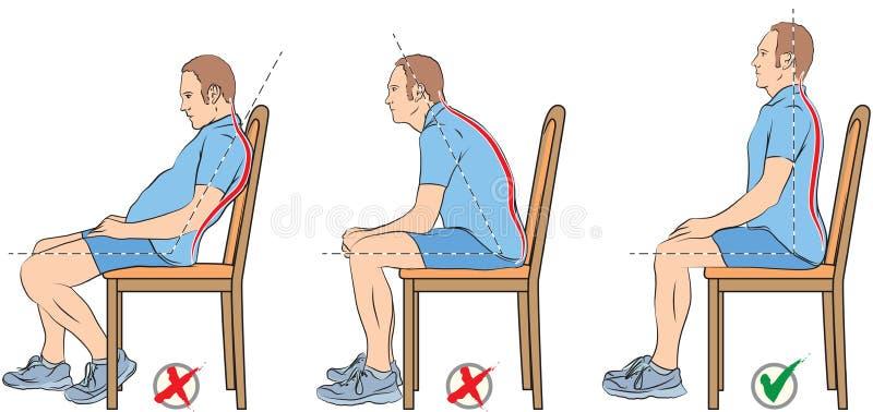 Posições de assento ilustração stock