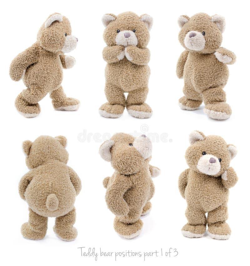 Posições de urso da peluche foto de stock royalty free