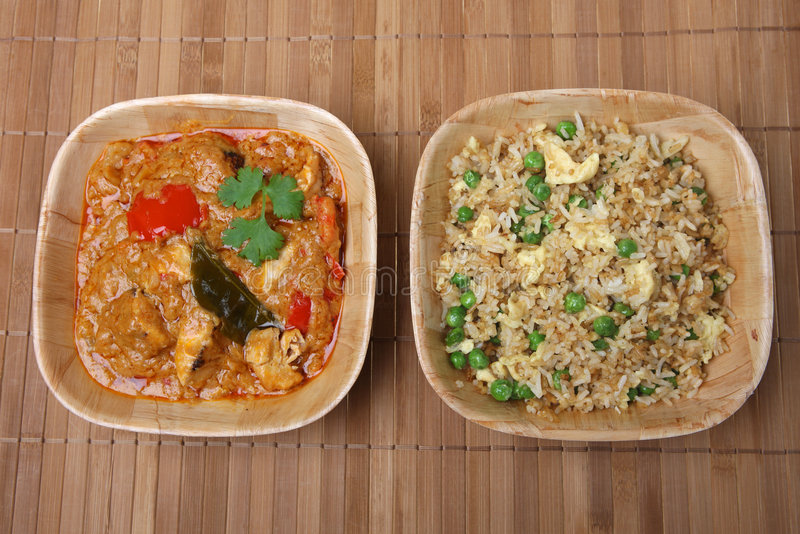 posiłek ryżu tajskich curry obrazy royalty free