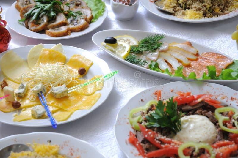 posiłku świąteczny stół obraz royalty free