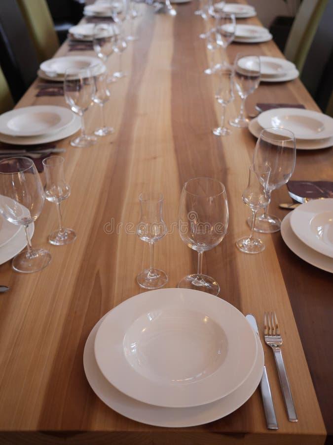 posiłku setu stół fotografia royalty free