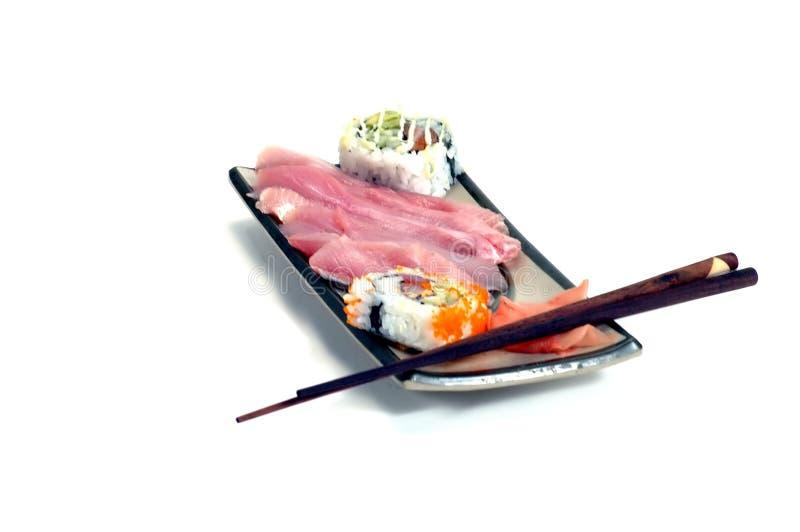 Download Posiłki 2 sashimi zdjęcie stock. Obraz złożonej z chopstick - 47766