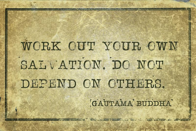 Posiadać salwowanie Buddha zdjęcie royalty free