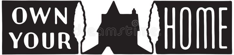 Posiadać Twój dom 5 royalty ilustracja