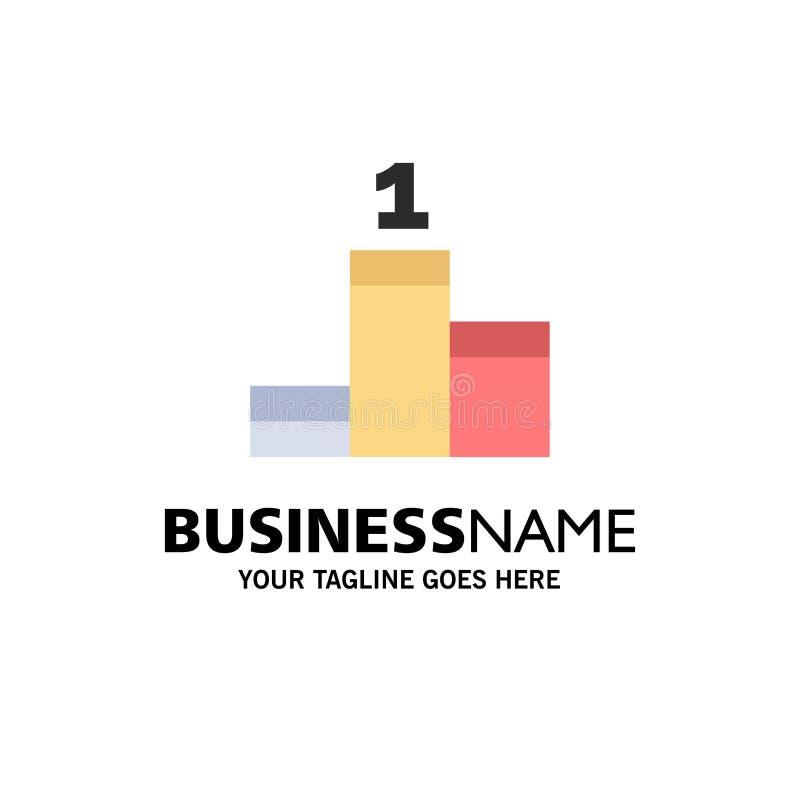 Posición, éxito, negocio Logo Template del logro color plano libre illustration