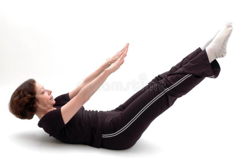 Posición 960 de la yoga imagen de archivo