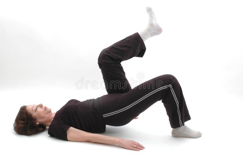 Posición 969 de la yoga fotos de archivo