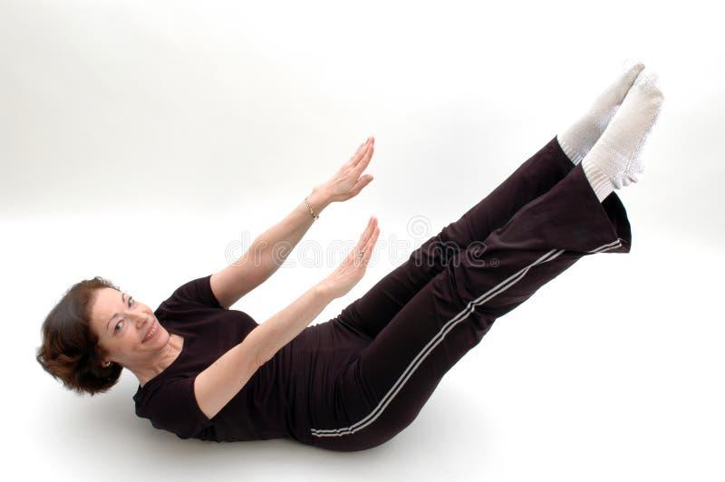 Posición 973 de la yoga imagenes de archivo