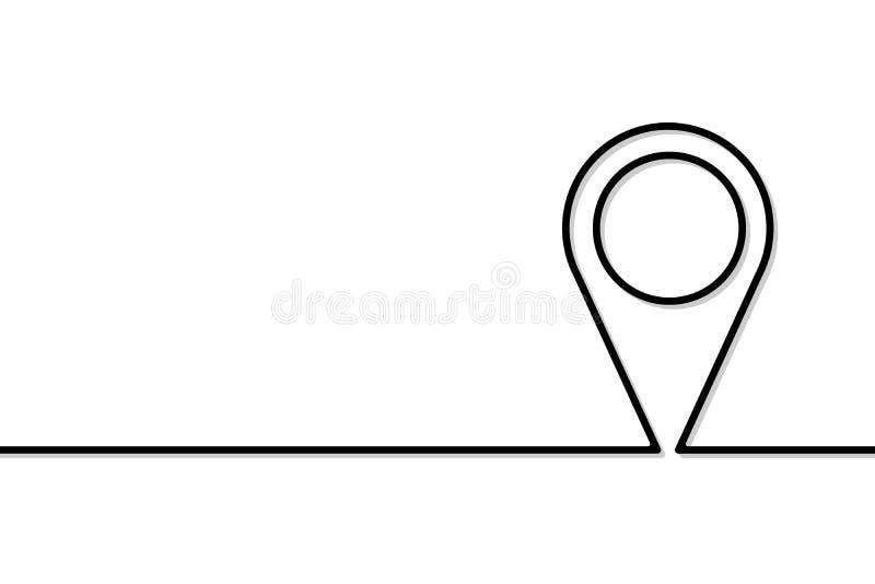 Posicione cartões ao estilo de uma única linha ilustração do vetor