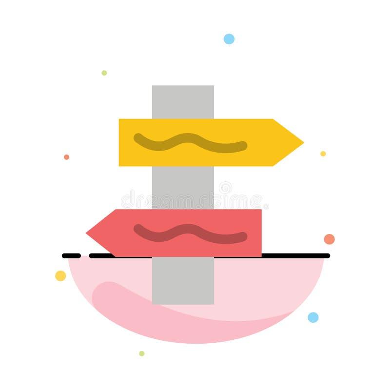 Posicione, navegação, molde liso do ícone da cor do sumário da estrada ilustração royalty free