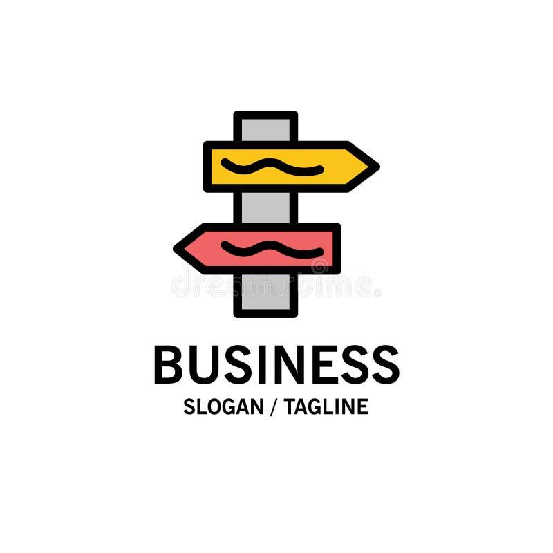 Posicione, navegação, negócio Logo Template da estrada cor lisa ilustração stock