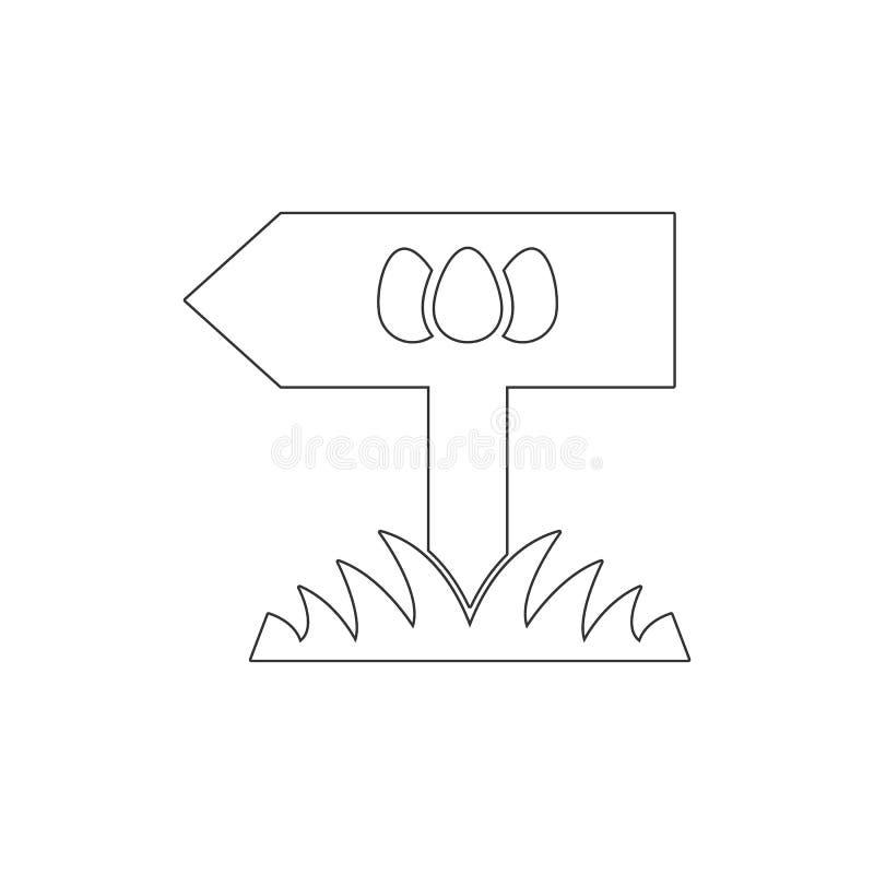 Posicione o ?cone do esbo?o dos ovos da p?scoa Elementos do ?cone da ilustra??o da P?scoa Os sinais e os s?mbolos podem ser usado ilustração stock