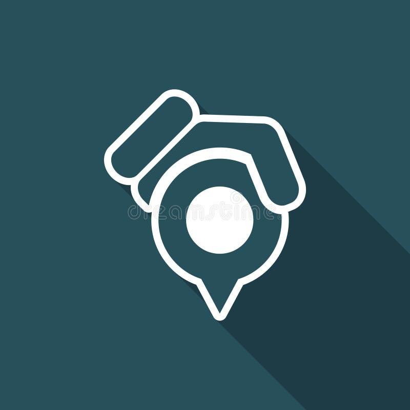 Posicione o ícone do ponteiro ilustração do vetor
