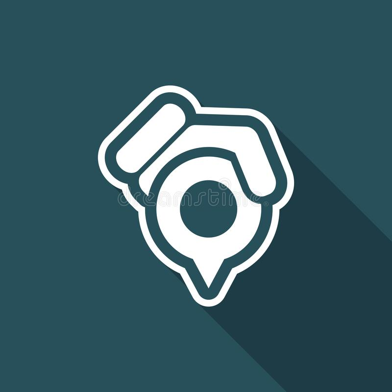 Posicione o ícone do ponteiro ilustração stock