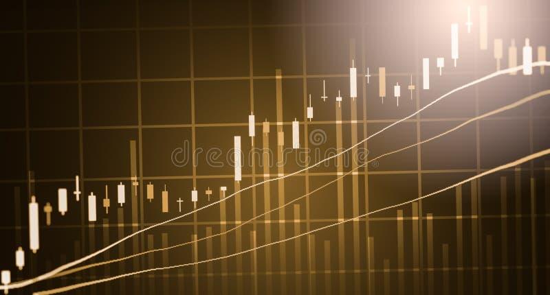 Posicione o gráfico da análise financeira do indicador do mercado de valores de ação no diodo emissor de luz fotos de stock