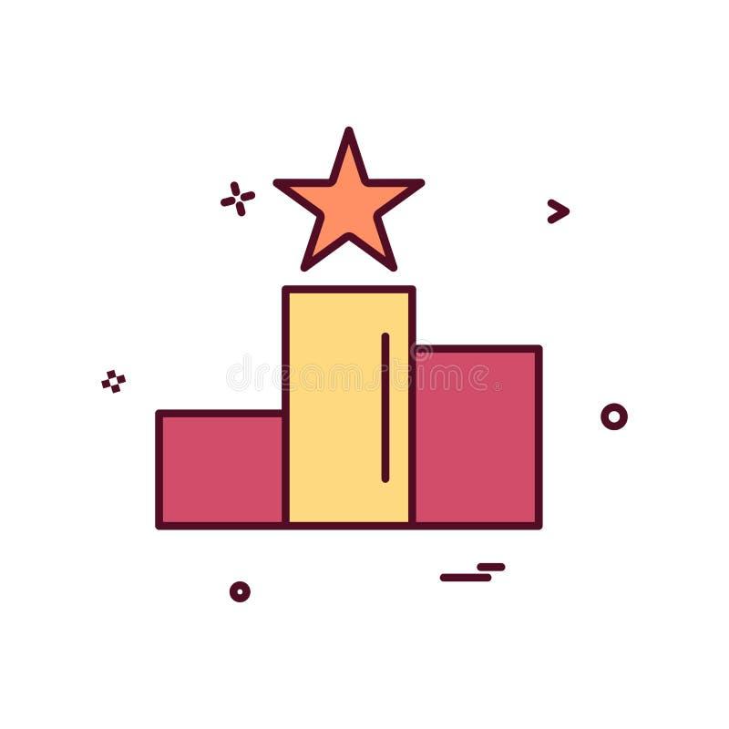 posicione o projeto do vetor do ícone da estrela ilustração stock