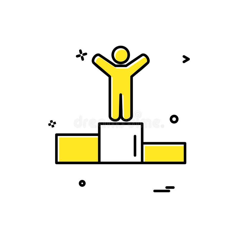 posicione o projeto do vetor do ícone ilustração stock