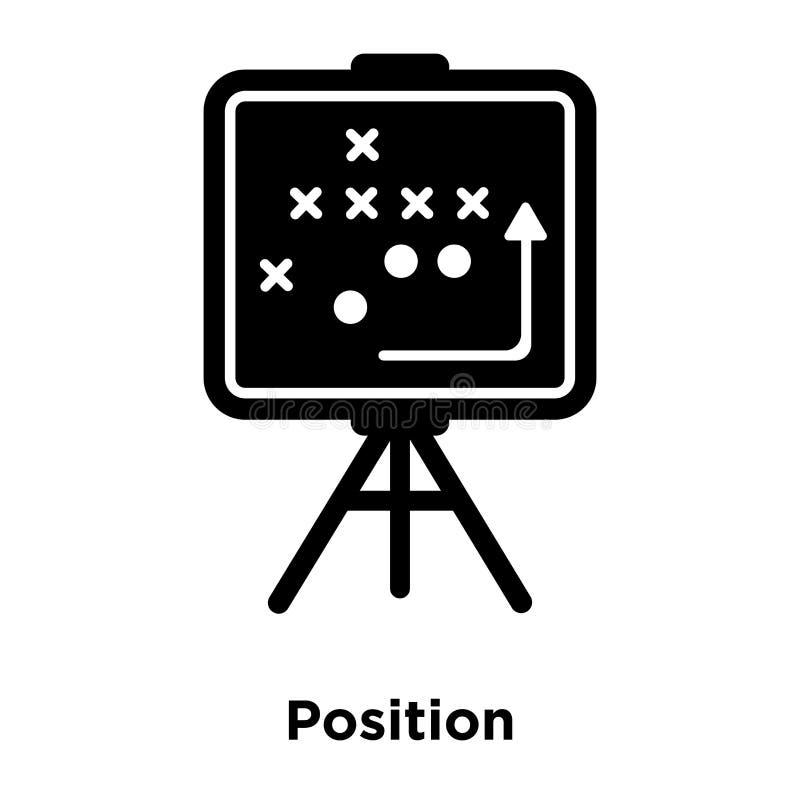 Posicione o vetor do ícone isolado sobre o fundo branco, conceito do logotipo ilustração stock