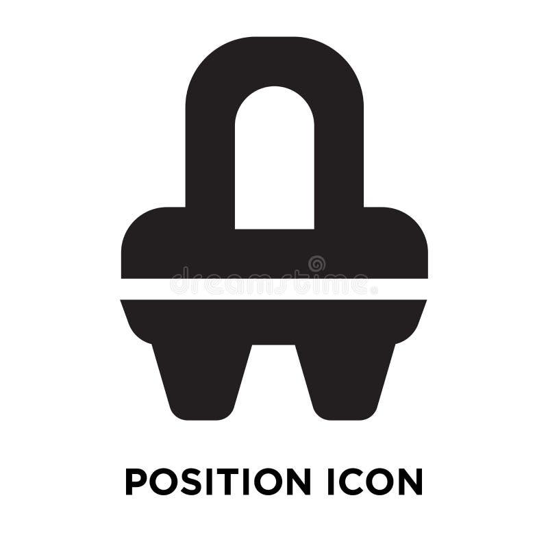Posicione o vetor do ícone isolado sobre o fundo branco, conceito do logotipo ilustração royalty free