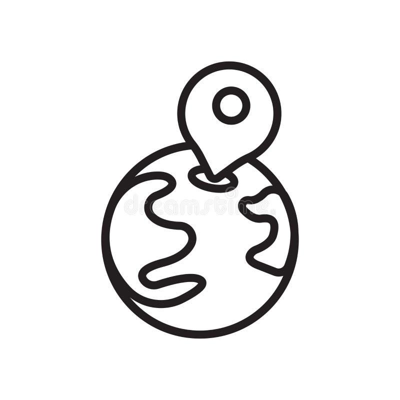 Posicione o vetor do ícone isolado sobre o fundo branco, posicione o sinal ilustração royalty free