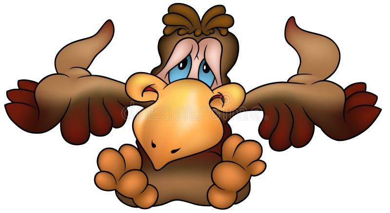 posiedzenie papuzi brown royalty ilustracja