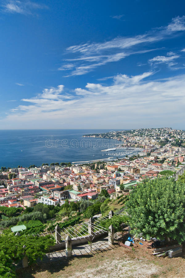 Posillipo and Chiaia, Naples, Italy stock images