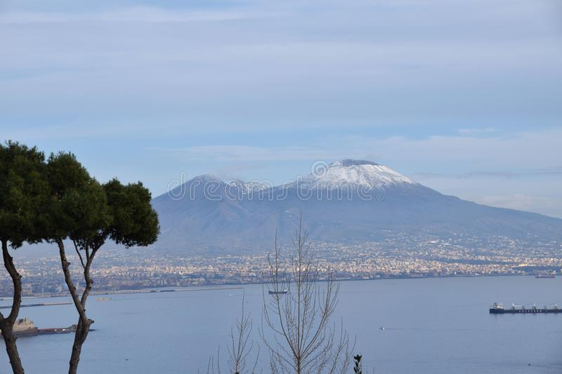 Posillipo hill, napoli royalty free stock images