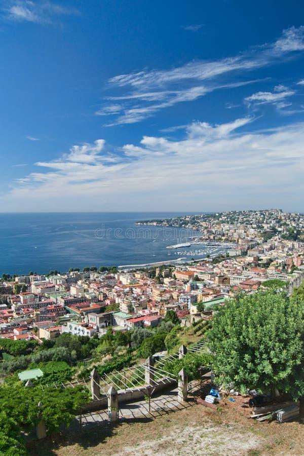 Posillipo und Chiaia, Neapel, Italien stockbilder