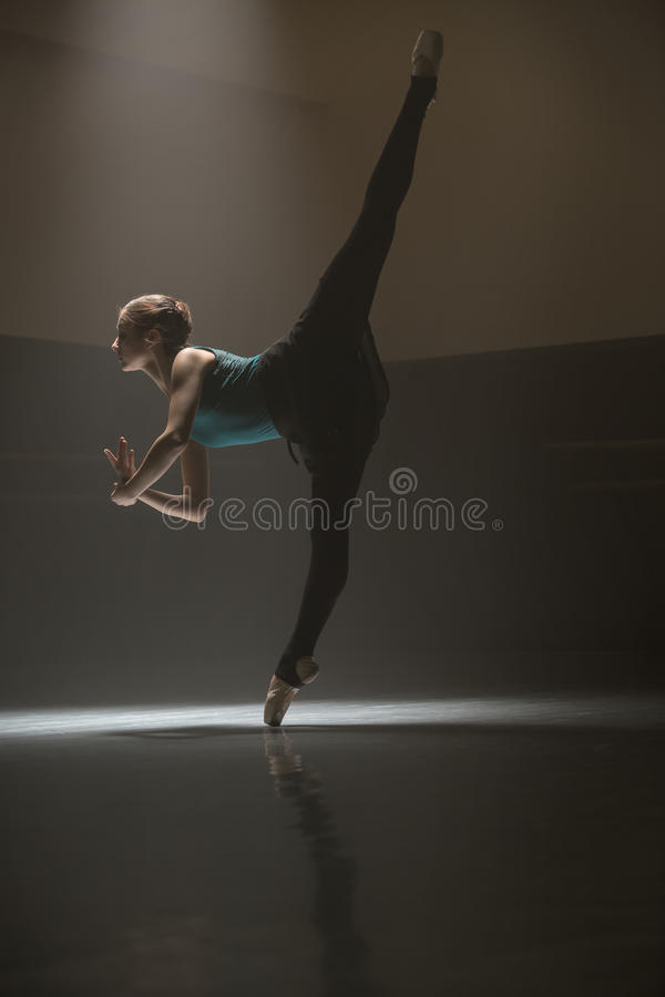Free Posing Ballerina In The Class Room Royalty Free Stock Images - 76920029